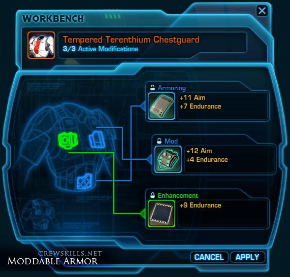 Moddable armor